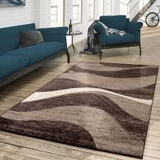 Farben braun, beige, grün, rosé, schwarz. Teppich Designer Wohnzimmer Meliert Modern Teppichmax