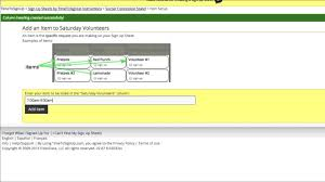 Create Sign Up Sheet Timetosignup Com How To Create A Sign Up Sheet Youtube