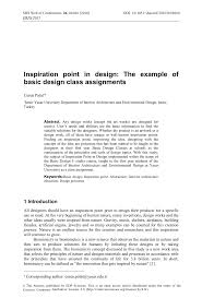 Basic Design Class Pdf Inspiration Point In Design The Example Of Basic