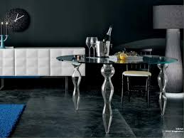 Round Smoked Glass Dining Table Round Glass Dining Tables That Make A Stylish Impression