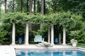garden columns. Retractable-pool-cover-Landscape-Traditional-with-climbing-plants-columns -container-plants-decorative-garden Garden Columns E