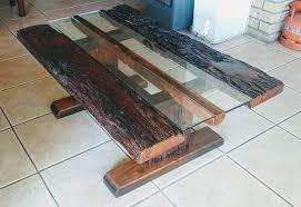 coffee table made from railway sleepers
