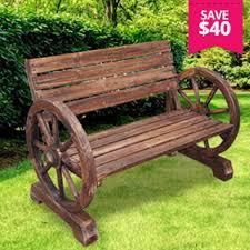 Aestivo Wagon Wheel Garden Bench .