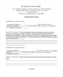 Free Doctors Note Templates Doctor Excuses For Work Template Excuse