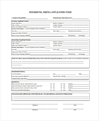 Sample Rental Application 8 Examples In Pdf Word