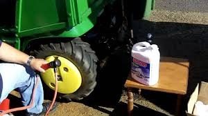 Tractor Easy Way To Load Tires With Liquid Ballast