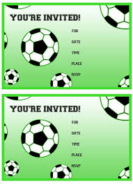 Soccer Party Invitation Template Free Printable Soccer Birthday Party Invitations From