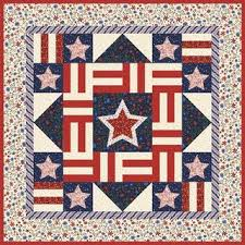Stars and Stripes Quilt, free pattern by Stacy Harpole, fabric by ... & Blue quilts Adamdwight.com