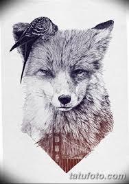 черно белый эскиз тату с лисой 09032019 005 Tattoo Sketch