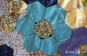 Hand Pieced Hexagon Quilt Tutorial - Wee Folk Art & Hand Pieced Hexagon Quilt Tutorial Adamdwight.com