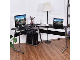 office wood table. corner desk lshaped office wood large pc game table workstation home furniture