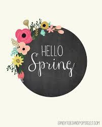 Free Spring Hello Spring Free Spring Printable Popsicle Blog