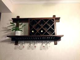 with wine glass rack wall