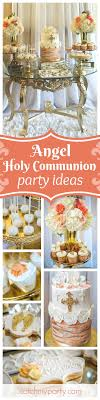 You don't want to miss this gorgeous Angel themed Holy Communion. The  dessert