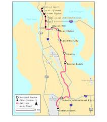 Phoenix Light Rail Stops Map Seattles Central Link Light Rail Network During Study