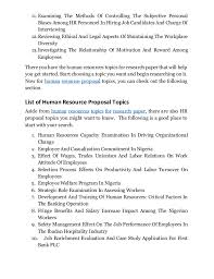 discover human resources management topics for research paper that wo   3