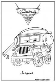 Small Picture Cars 2 Printable Coloring Pages Cars 2 Sarge Printable Coloring