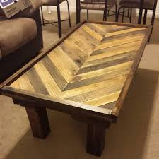 pallet coffee table boards are  inches the table is  ft by