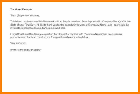 2 Week Notice Letter Templates Letter Of Resignation Template 2