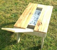 outdoor coffee table plans patio coffee table outdoor coffee table ideas re purposed pallet secret beer cooler