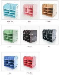 office desktop storage. Creative Multi-Layer Office Desk Set Diy Desktop Storage Box Wooden Document \u0026 File Cabinet For Organizer R