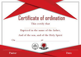 Free Downloadable Certificates Ordination Certificate Template 14 Unique And Free