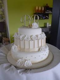 My First Wedding Cake White Ivory 3 Tier Wedding Cake With