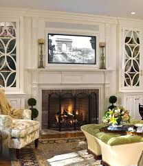 article on placing over fireplace tv mantle mantel ideas