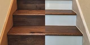 Painted Wood Stairs Painting Your Hardwood Stair Risers