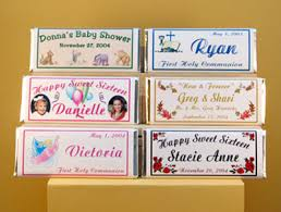 Candy Bar Wrappers - Personalized Custom Party Favors & Gifts ...