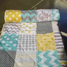 Best Elephant Baby Quilt Products on Wanelo & Baby quilt,teal,grey,yellow,Baby boy bedding,baby girl quilt Adamdwight.com