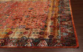 rugsville ikat rust sari silk 30002 8x10 rug