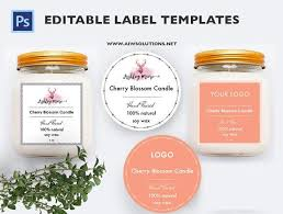Label Design Templates Jar Label Template Custom Labels Bath And Body Label Candle