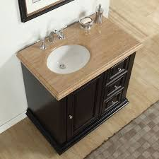 hayle 36 single sink bathroom vanity set with sink on left