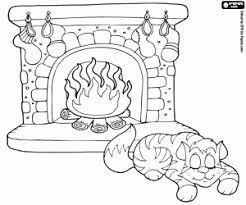 Kleurplaat Een Kat Slapen Op Kerstavond Kleurplaten