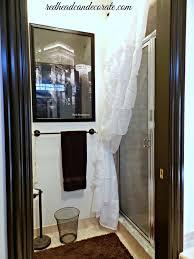 ruffled curtain over glass shower door shower curtain vs