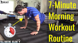 7 minute morning workout routine for