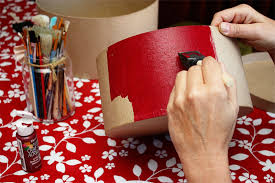 diy decorated storage boxes. Painting Each Of The Nesting Boxes Diy Decorated Storage E