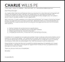 Mechanical Engineer Cover Letter Sample Ideas Collection Mechanical