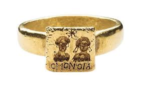 egyptian wedding rings. gold marriage ring, gold, 6th\u20137th century, byzantine. source: met egyptian wedding rings