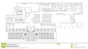 floor plan furniture symbols. Download Standard Cafe Furniture Symbols On Floor Plans Stock Vector -  Illustration Of Basic, Architectural Floor Plan Furniture Symbols