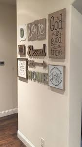 Love my new gallery wall!! Found most everything at Hobby Lobby and  Michaels. Family Wall DecorCountry ...