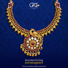 grt jewellers gold antique necklace