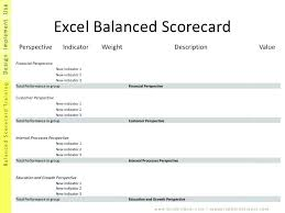 Balanced Scorecard Excel Template File Type Xls Align To Example