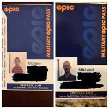 Last year, the epic military pass used a photo of me from when I was 8 or  so. This year, they used an old photo of my dad when I renewed : skiing