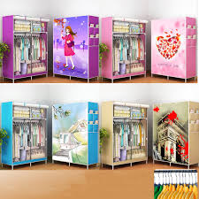 170x105x45cm portable clothes closet canvas wardrobe storage organizer steel frame storage bag