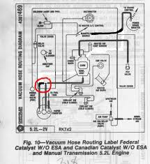 1985 emissions equipment locations dodge ram ramcharger and this is how i would like to alter it does anyone see an issue changing the config of the ones i circled in red