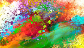 Abstract artwork pictures Palette Knife Color Explosion Abstract Art Color Explosion Abstract Art Painting By Ann Powell