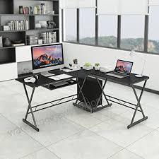 slypnos l shaped corner computer desk