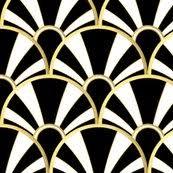 art deco gold fan wallpaper